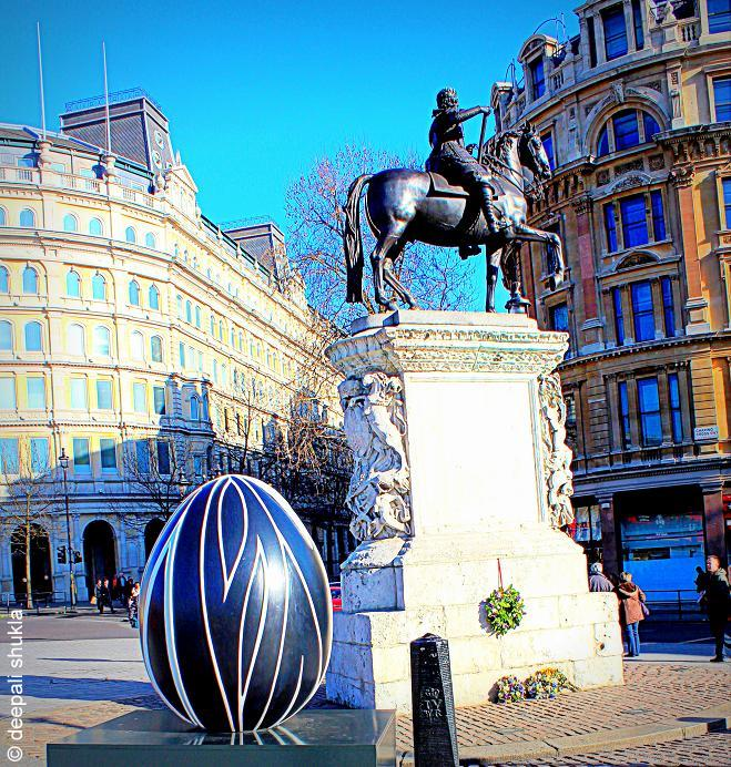 Statue of Charles I on Trafalgar Square