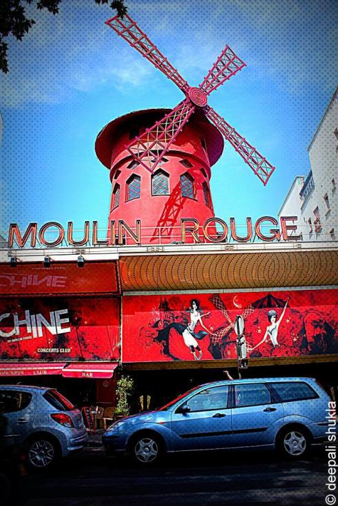 Moulin Rouge, the red mill, paris